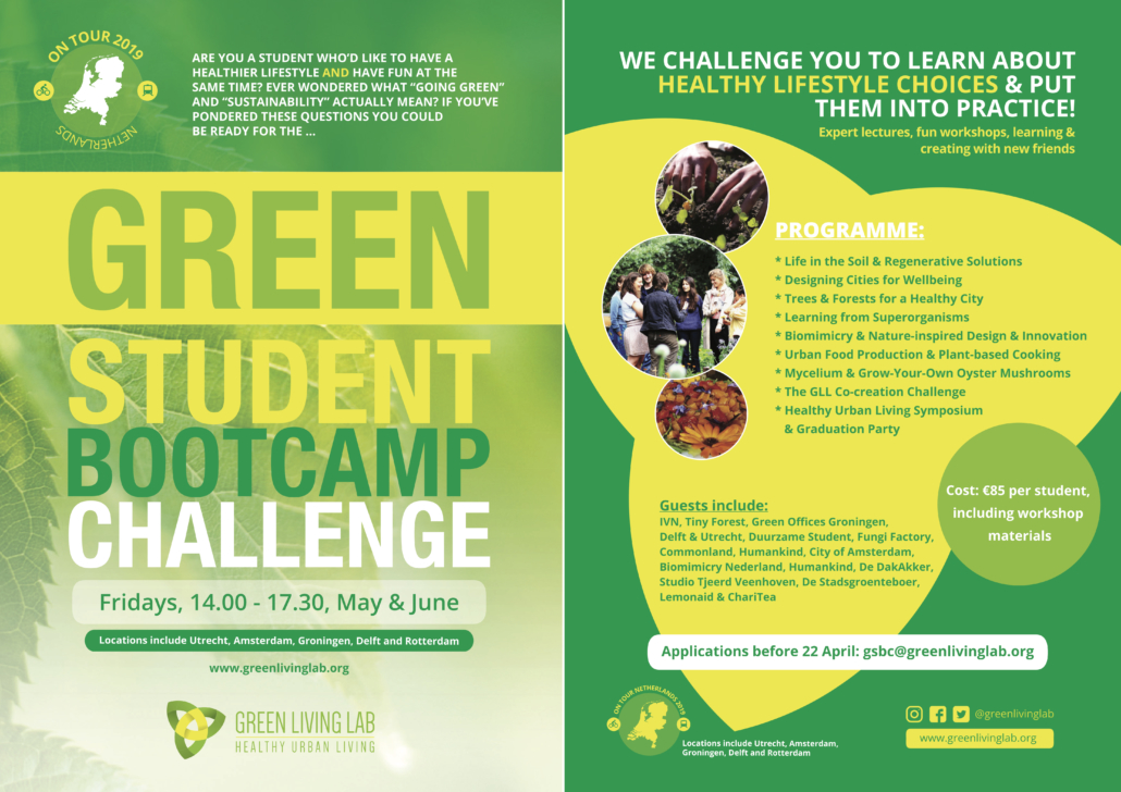 2ed411c865a Applications are to be received by Monday 29 April. To request an  application, please email us: gsbc@greenlivinglab.org