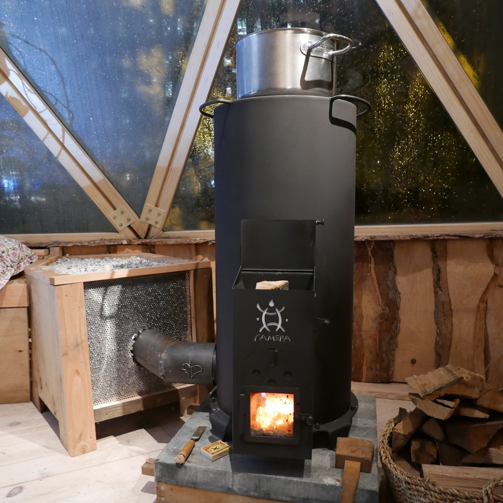 A Rocket Mass Heater For The Green Living Lab Green